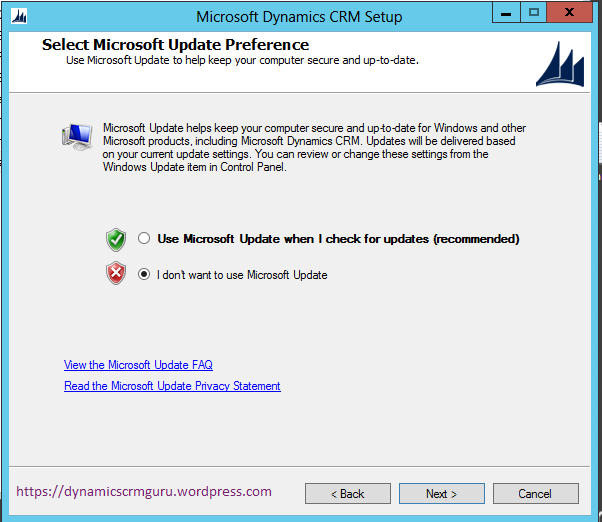 Windows Server 2012 - CRM9