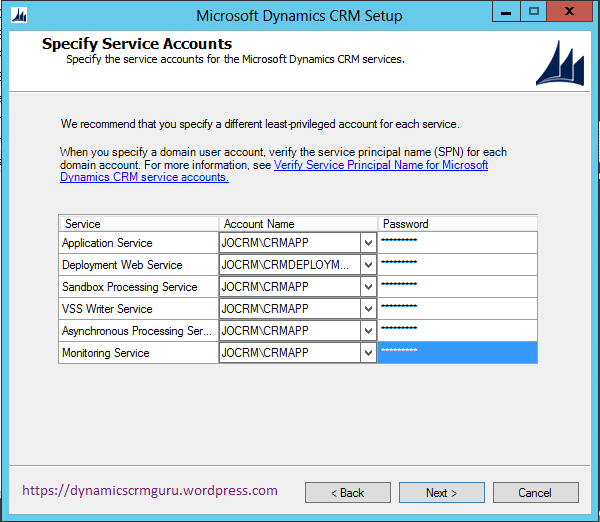 Windows Server 2012 - CRM7