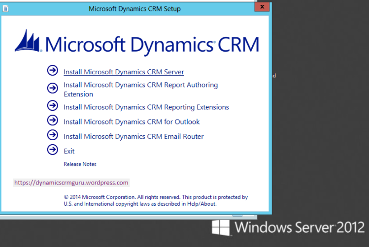 Windows Server 2012 - CRM0