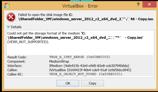 VirtualBox Error